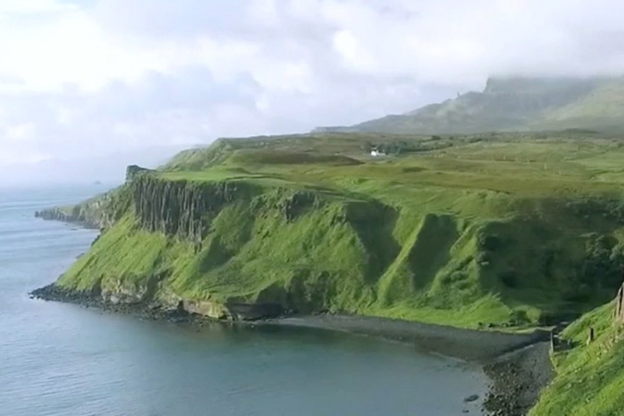 Scottish cliff landscape